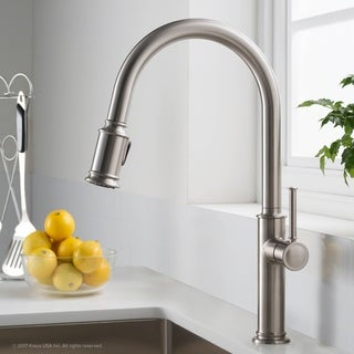 Awesome KRAUS Sellette Single Handle Pull Down Kitchen Faucet With Dual Function  Sprayhead