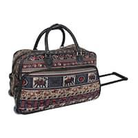 World Traveler Elephant 21-Inch Carry-On Rolling Duffel Bag