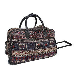 World Traveler Elephant 21-Inch Carry-On Rolling Duffel Bag