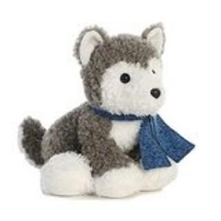 Aurora World Frosty Friends Husky Plush, Siberian Husky Puppy - 12 inch - grey