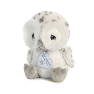 Precious Moments Nigel Snow Owl 8 inch - Baby Stuffed Animal by Aurora World - Silver