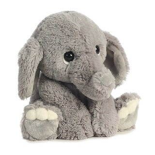 "Aurora World Lil Benny Phant - Grey Plush 12"" Elephant - Silver"