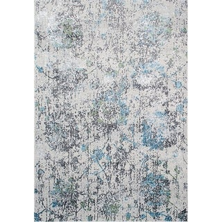 Dynamic Rugs Sensation Transitional Light Grey Area Rug (9'6 x 6'7)