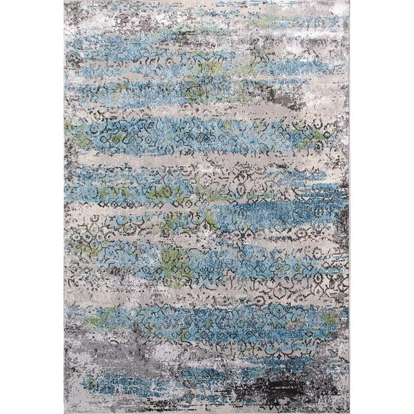 Sensation Multi Light Grey Area Rug - 5'3 x 7'7