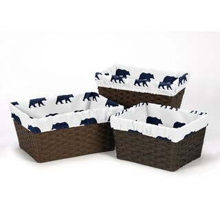Sweet Jojo Designs Big Bear Collection Basket Liners (Set of 3)