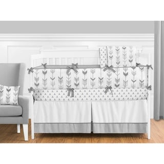 Sweet Jojo Designs Grey and White Mod Arrow Collection 9-piece Crib Bedding Set