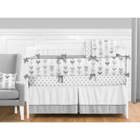 Sweet Jojo Designs Grey and White Mod Arrow Collection 9-piece Crib Bedding Set