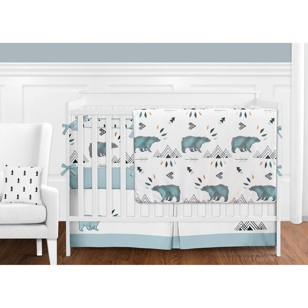 Etonnant Sweet Jojo Designs Bear Mountain Collection 9 Piece Crib Bedding Set