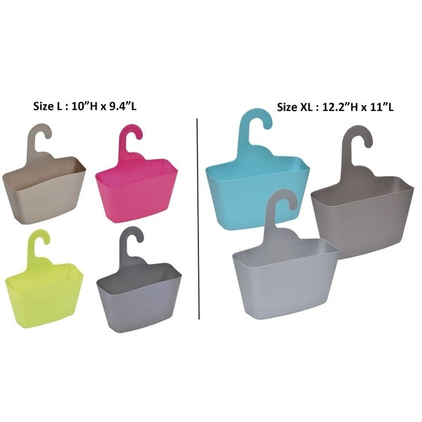 Shop Evideco Wall Shower Caddy Plastic Basket with Hanger - Free ...