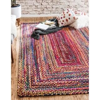 Unique Loom Braided Chindi Area Rug - 2' x 3'