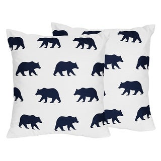 Sweet Jojo Designs Decorative Accent Throw Pillows for the Big Bear Collection (Set of 2)