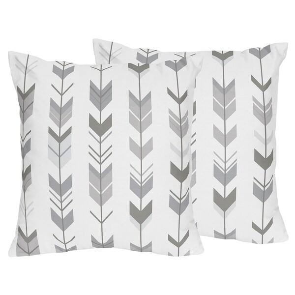 Shop Sweet Jojo Designs Decorative Accent Throw Pillows For The Grey Cool Designer Decorative Throw Pillows