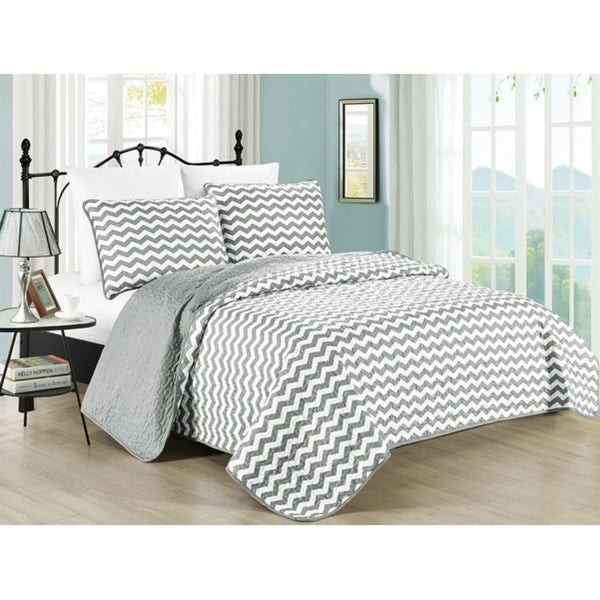 shop south bay zig zag stripe quilt set free shipping today