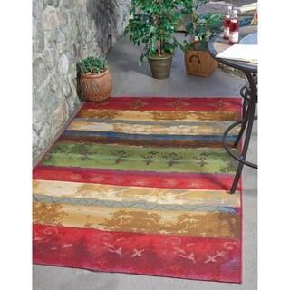 Unique Loom Traditional Outdoor Area Rug - 4' x 6'