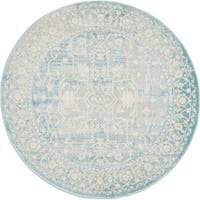 Unique Loom Olympia New Classical Round Rug - 4' x 4'