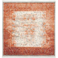 Unique Loom Apollo New Classical Square Rug - 4' x 4'