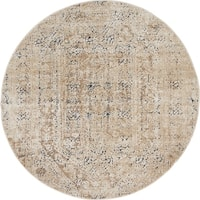 Unique Loom Quincy Villa Round Rug - 4' x 4'