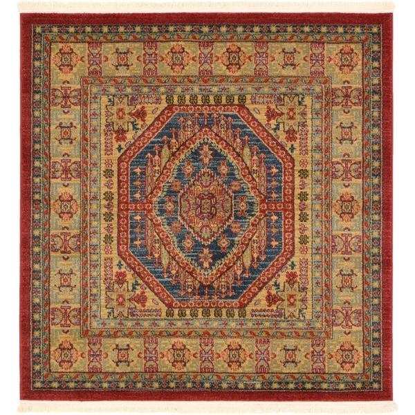 Unique Loom Musa Sahand Square Rug - 4' x 4'
