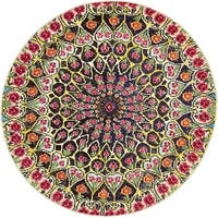 Unique Loom O' Keefe Vita Round Rug - multi - 4' Square