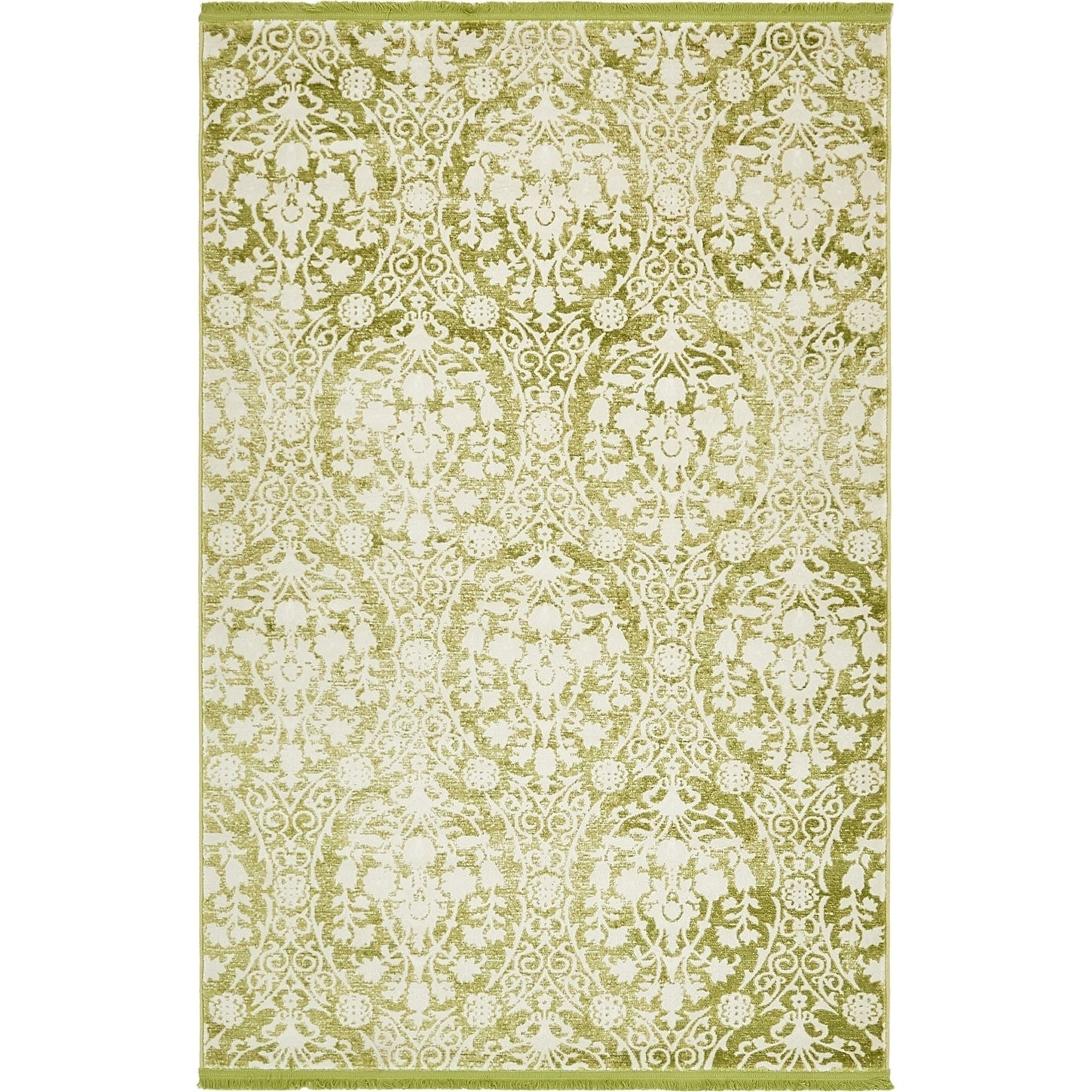 Arcadia New Vintage Abstract Light Green/Off-white Fabric...