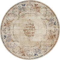 Unique Loom Lincoln Chateau Round Rug - 4' x 4' Round