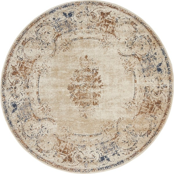 Unique Loom Lincoln Villa Round Rug - 4' 0 x 4' 0