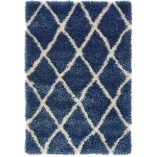 Unique Loom Luxe Trellis Shag Area Rug - 4' x 6'