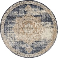 Unique Loom Roosevelt Chateau Round Rug - 4' x 4'