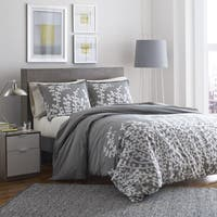 City Scene Cotton Branches Grey Twin Size Comforter Set (As Is Item)