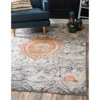 Unique Loom Klimt Vita Round Rug - 4' x 4'