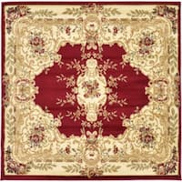 Unique Loom Leon Versailles Square Rug - 4' 0 x 4' 0