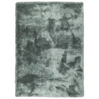 Hand-Tufted Silky Shag Mint Polyester Rug - 2' x 3'