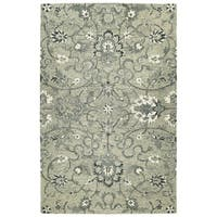 Hand-Tufted Ashton Grey Wool Rug - 2' x 3'