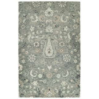 Hand-Tufted Ashton Grey Wool Rug - 2' x 3'