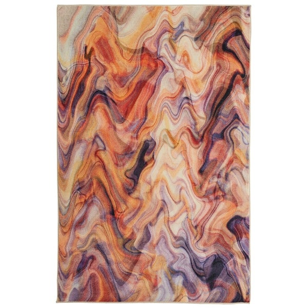 Mohawk Home Prismatic Wavelength Abstract Area Rug (5' x 8')