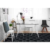 Hand-Tufted Homa Black Wool Rug - 2' x 3'
