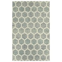 Hand-Tufted Homa Ivory Wool Rug - 2' x 3'