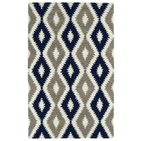 Hand-Tufted Copal Navy Wool Rug - 2' x 3'