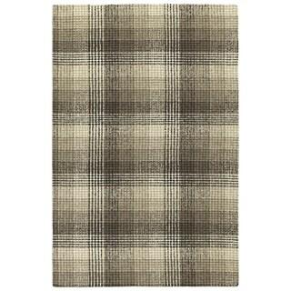 Hand-Tufted Snook Brown Wool Rug - 2' x 3'