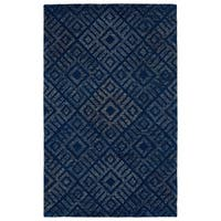 Hand-Tufted Homa Blue Wool Rug - 2' x 3'