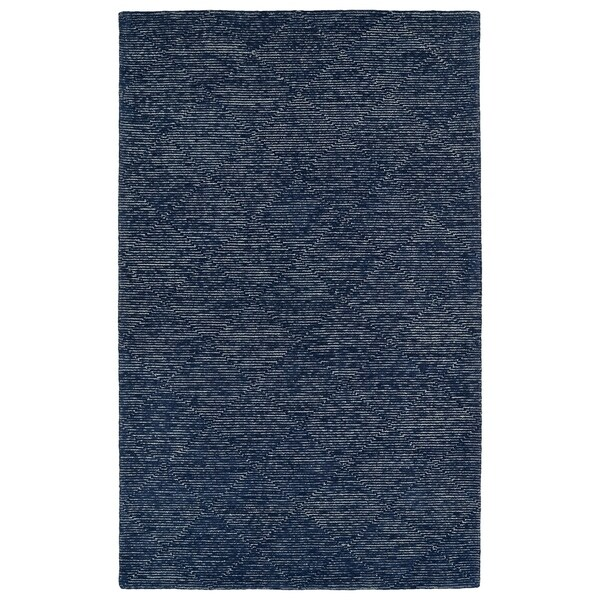Hand-Tufted Homa Navy Wool Rug - 2' x 3'