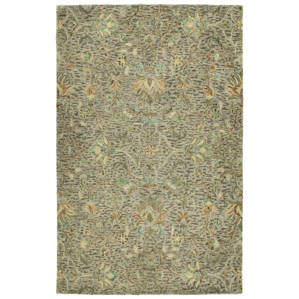 Hand-Tufted Ashton Taupe Wool Rug - 2' x 3'