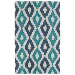Hand-Tufted Copal Turquoise Wool Rug - 2' x 3'
