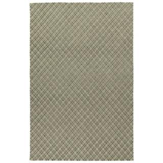 Hand-Tufted Snook Grey Wool Rug - 2' x 3'