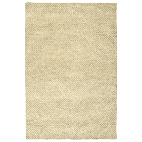 Hand-Tufted Brantley Sand Wool Rug - 2' x 3'