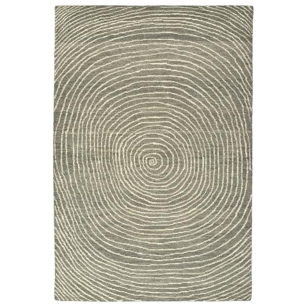 Hand-Tufted Brantley Grey Wool Rug - 2' x 3'