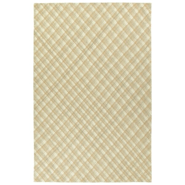 Hand-Tufted Snook Camel Wool Rug - 2' x 3'