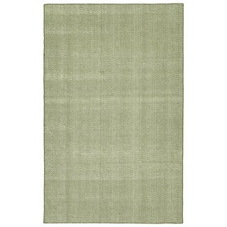 Indoor/Outdoor Eden Chevron Olive Polyester Rug - 2' x 3'