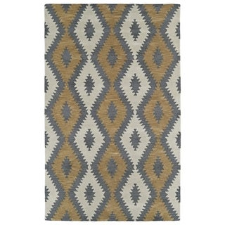 Hand-Tufted Copal Camel Wool Rug - 2' x 3'