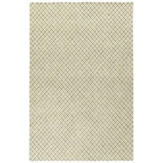 Hand-Tufted Snook Beige Wool Rug - 2' x 3'
